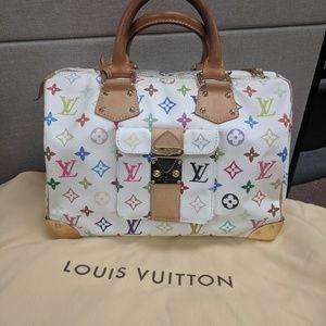 Louis Vuitton speedy 30 white  bag